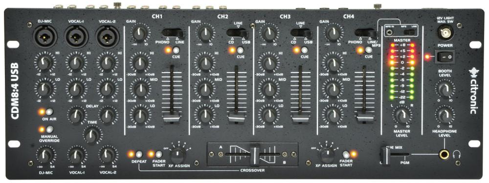 Citronic CDM8:4 USB 14-Input 19