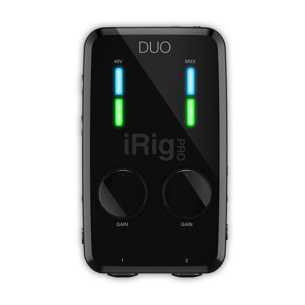 ik multimedia irig pro duo interface for iphone android and mac pc