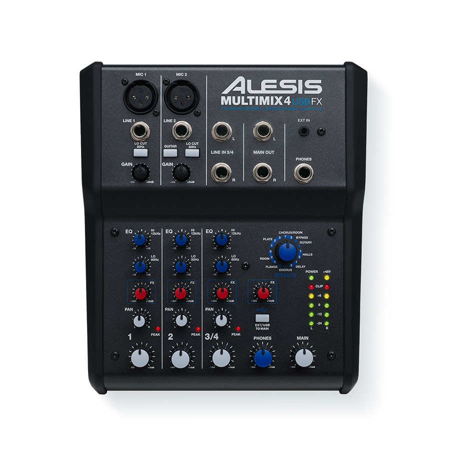 alesis multimix 4 usb fx 4 channel mixer with usb and built in effects westenddj london. Black Bedroom Furniture Sets. Home Design Ideas