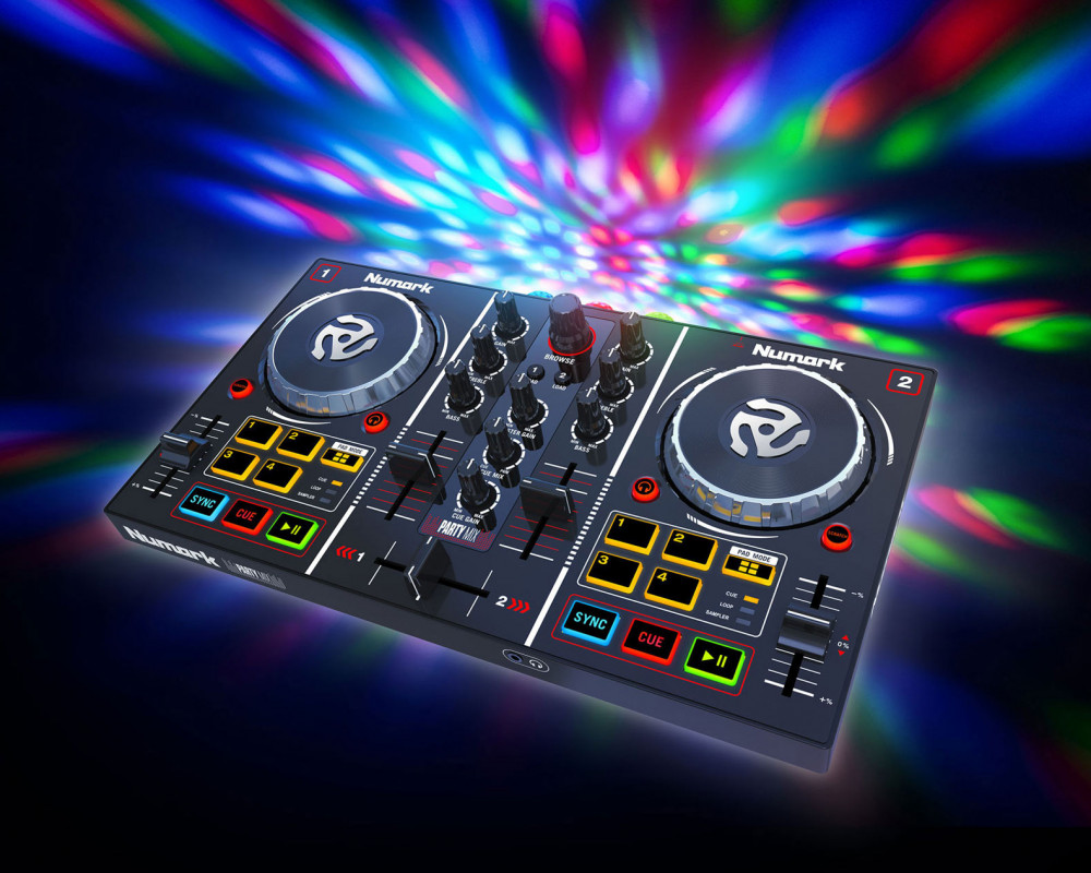 Numark Party Mix 2 Channel Dj Controller With Built In