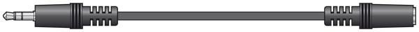 AVLink 3.5 Stereo Jack to 3.5 Stereo Socket Lead ( 111.015UK )