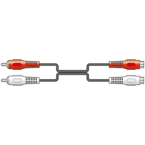 AVLINK 2 x RCA Phono - 2 x RCA Phono Socket Cable - 5M (112.058UK)