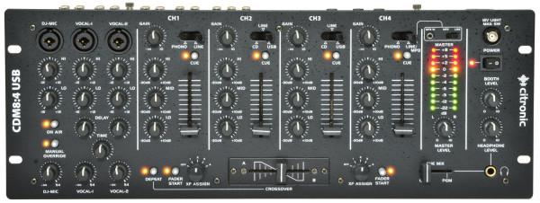 "Citronic CDM8:4 USB 14-Input 19"" Rack Dj Mixer ( 172.776UK )"