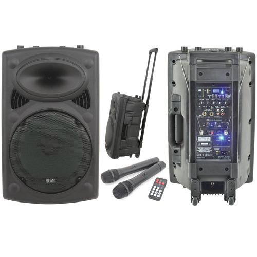 "QTX QR12PA 12"" Portable Battery/Mains PA Speaker (178843)"
