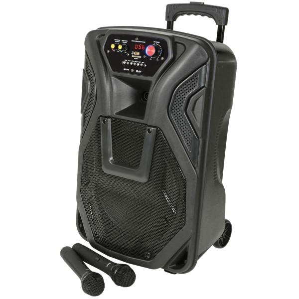 "QTX Busker 12"" PA with VHF Mics, Media Player & Bluetooth (178.866UK)"