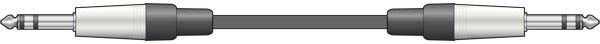 Chord 6m 6.3 to 6.3 TRS Balanced Jack lead - 6m ( 190.004UK )