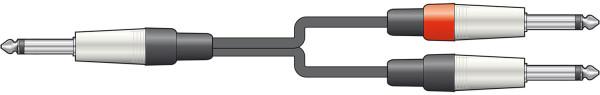 Chord 6m 6.3 Mono Jack to 2 x 6.3 Mono Jack Lead ( 190.026UK )