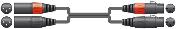 Chord 6m 2 x Male XLR to 2 x Female XLR Lead ( 190.031UK )
