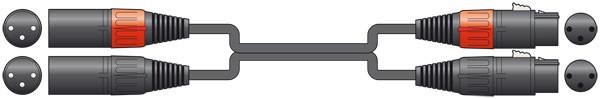 Chord 1.5m 2 x XLR Male to 2 x XLR Female ( 190.029UK )