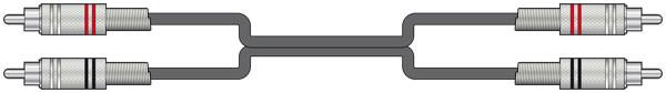 SKYTRONICS Twin RCA to Twin RCA Cable - 3m (190054)