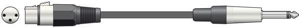 QTX 3m Female XLR - 6.3mm Jack Unbalanced ( 190.086UK )