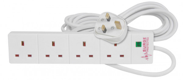 Mercury 4 Gang Extension Lead with Surge Protection 5m ( 429.845UK )