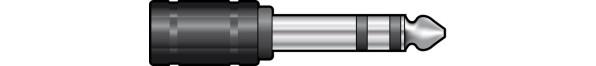 QTX 6.3mm STEREO JACK PLUG to 3.5mm STEREO JACK SOCKET (757873)
