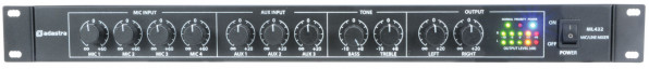 Adastra ML432 1U Mic / Line Rack Mixer (953024)