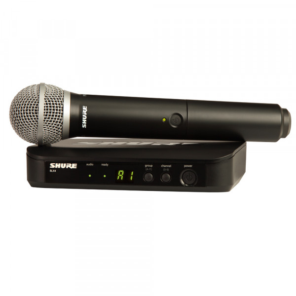 SHURE PG58 Wireless Analogue Vocal System (BLX24UK/PG58)