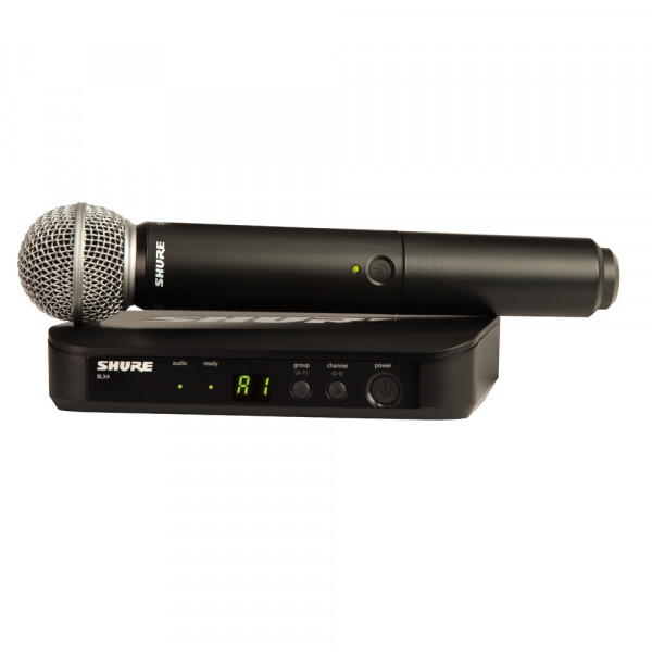 SHURE SM58 Wireless Analogue Vocal System (BLX24UK/SM58)