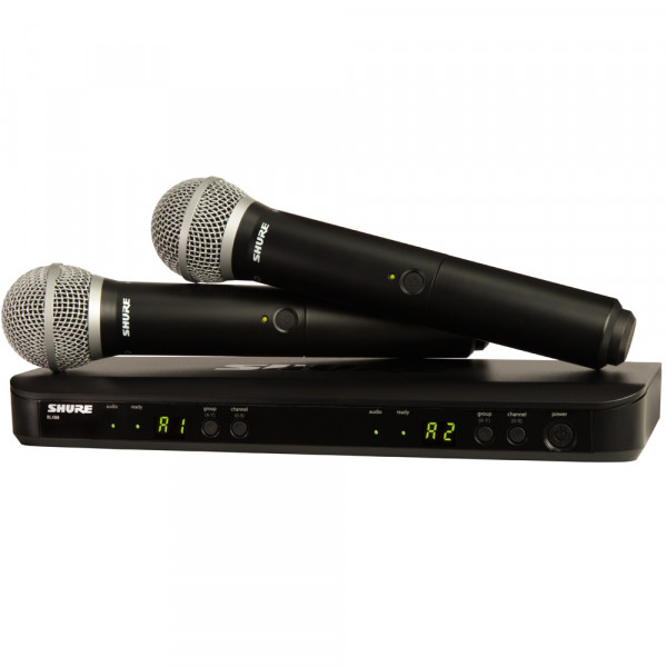 SHURE Twin PG58 Wireless Vocal System (BLX288UK/PG58)