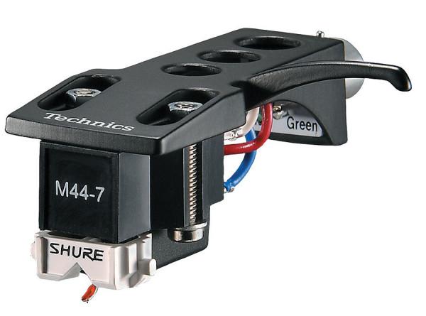 SHURE M447H Scratch DJ Cartridge & Styli Mounted On Technics Headshell