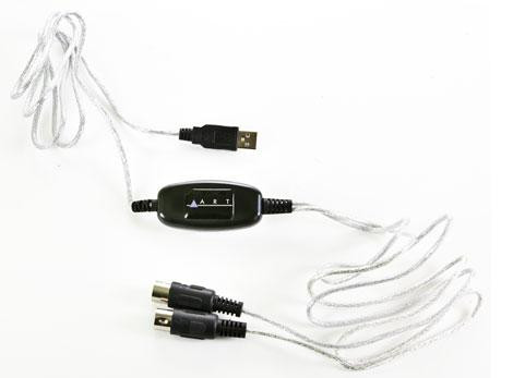 ART MConnect USB to MIDI Cable