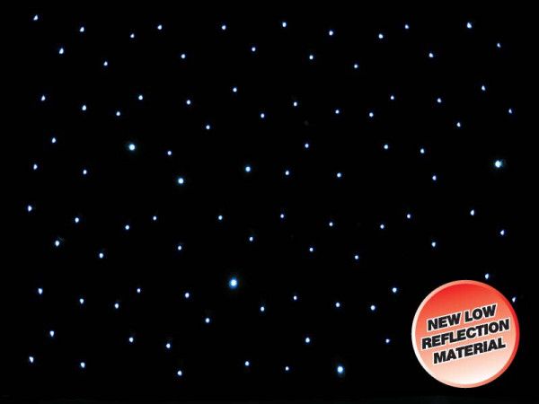 LEDJ 8 x 4.5m Black LED Starcloth Black Cloth, CW (STAR06)