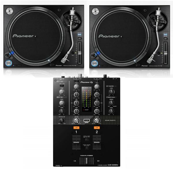 Pioneer 2 x PLX1000 + DJM-250MK2 Bundle