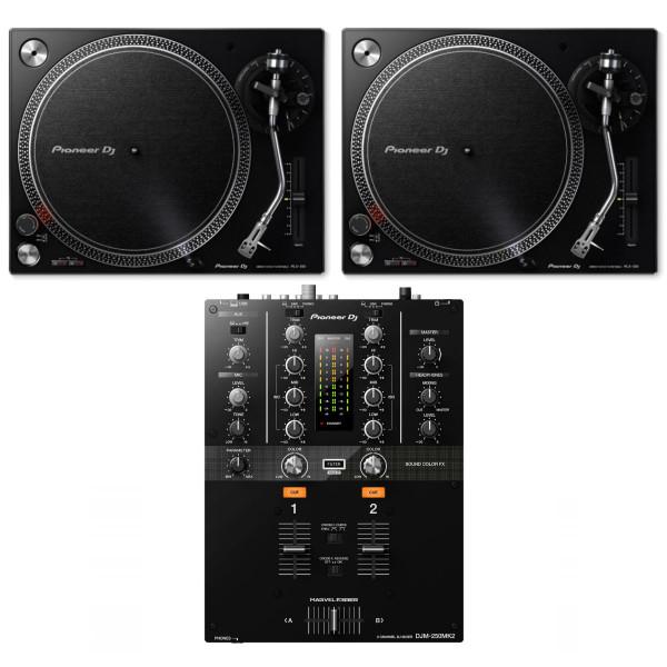 Pioneer 2 x PLX500K + DJM-250MK2 Bundle