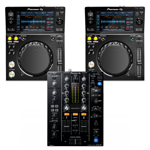 Pioneer DJ 2 x XDJ700 + DJM450 USB Player / Mixer Bundle