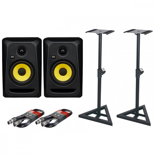 KRK Rokit Classic 5 Pair with Stands & Cables