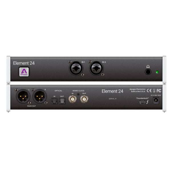 Apogee Element 24 10 In X 12 Out Thunderbolt Audio I/O Box For Mac