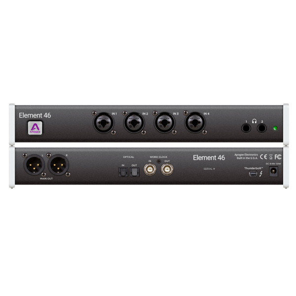 Apogee Element 46 12 In X 14 Out Thunderbolt Audio I/O Box For Mac