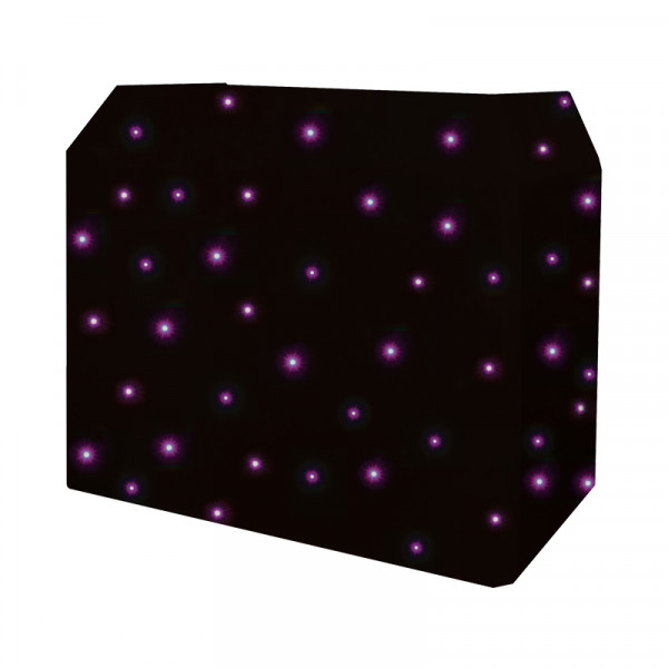 Equinox DJ Booth Quad LED Starcloth System, Black Cloth (EQLED12N)