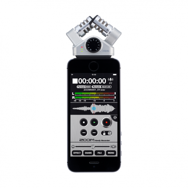 ZOOM IQ6 Stereo X\Y Mic With Lightning Conn For IOS