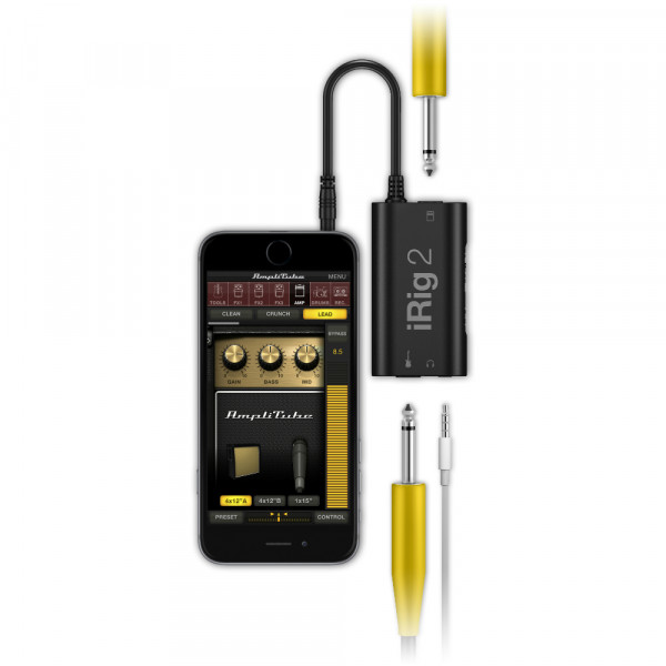 IK Multimedia iRig 2 guitar interface for iPhone, iPod touch, iPad, Mac & Android