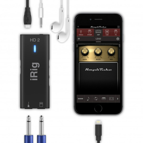 IK Multimedia iRig HD2 High Quality Guitar Interface for iPhone/iPad/Mac