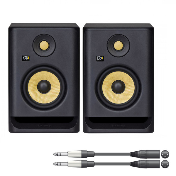 KRK ROKIT 5 G4 Active Studio Monitor Pair with Cables