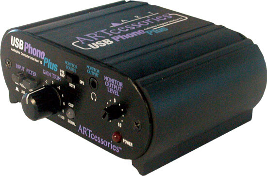 ART USB Phono Plus Phono Project Series Turntable Preamp