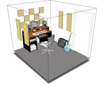Primacoustic London 8 Acoustic Room Treatment Kit - Black