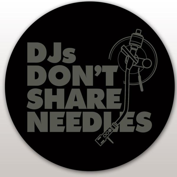 DMC Technics DJs Don't Share Needles Slipmats - Pair