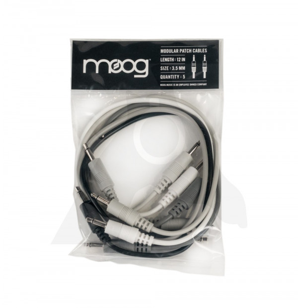 "MOOG Modular Patch Cables - 12"" (pack of 5)"