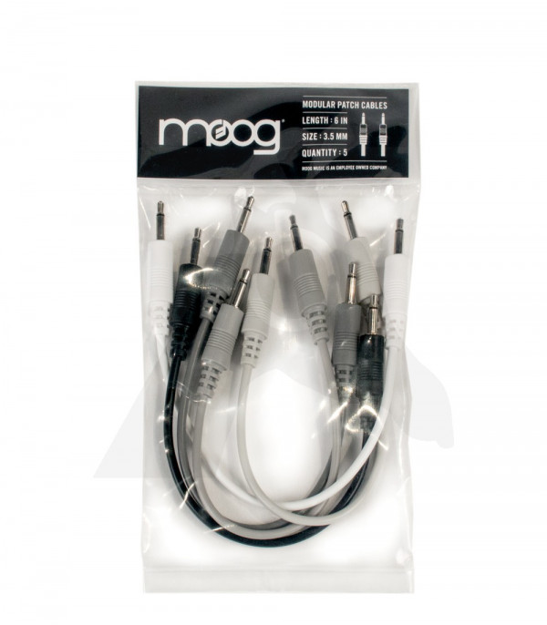 "MOOG Modular Patch Cables - 6"" (pack of 5)"