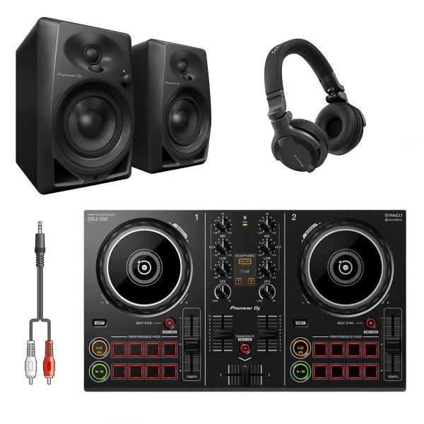 Pioneer DJ DDJ-200 DJ System Bundle with HDJ-CUE1 Headphones & Monitors
