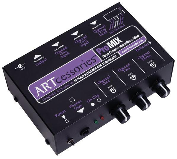 ART ProMIX 3 Channel Mic Mono Mixer