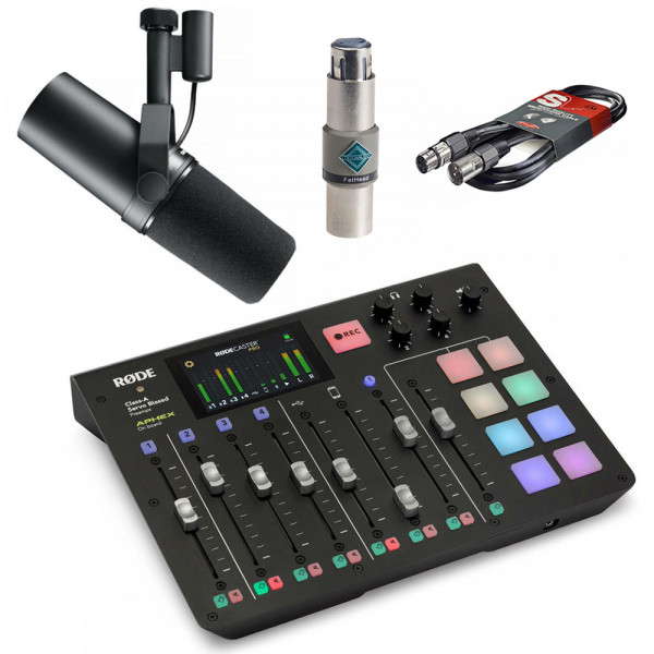 Rodecaster Pro Bundle with Shure SM7B + FetHead