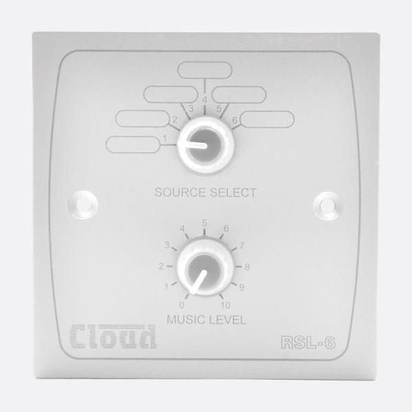 CLOUD RSL-6W Remote Music Source / Volume Level Control - White