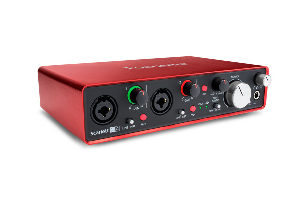 FOCUSRITE Scarlett 2i4 (2nd Gen) 2 in, 4 out USB Audio Interface