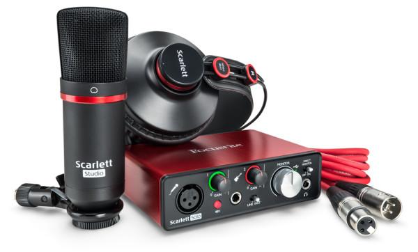 FOCUSRITE Scarlett Solo Studio (2nd Gen) Complete Recording Package