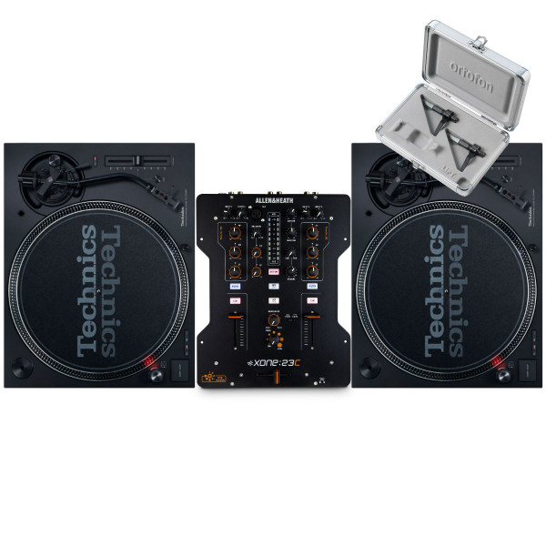 Technics SL 1210 MK7 Pair + XONE:23C with Cartridges