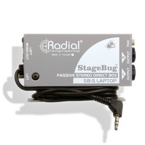 Radial Stagebug SB-5 Passive DI For Laptop