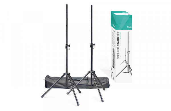 STAGG SPSQ10-SET Steel Speaker Stands With Carry Bag - Set