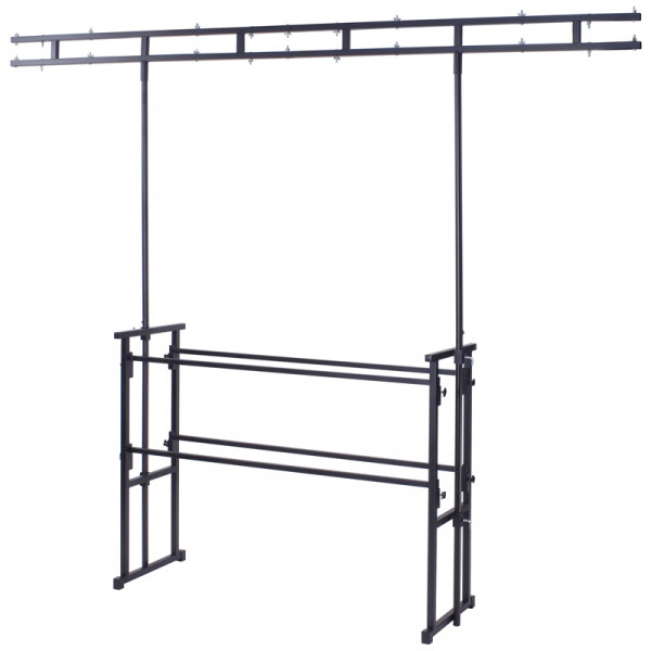 Equinox 4ft Pro disco stand with twin bar overhead (STAN12A)